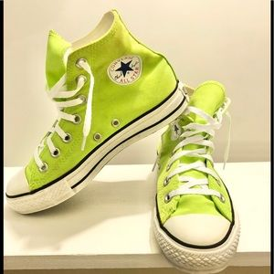 Unisex Converse Neon Green High Top Sneaker